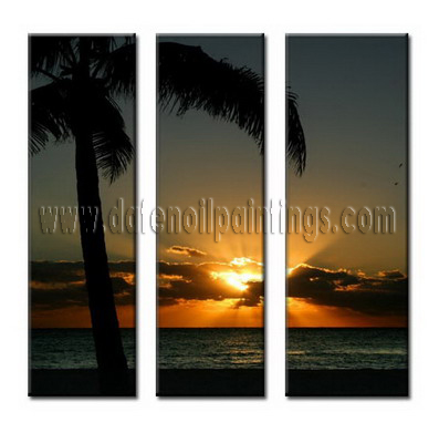 Modern Oil Paintings on canvas seascape painting -set08002