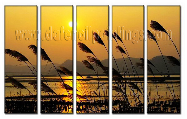 Modern Oil Paintings on canvas setting sun painting -set08008