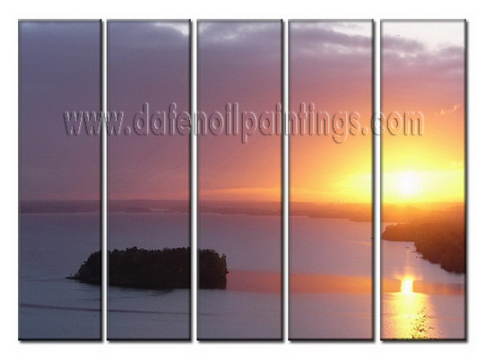 Modern Oil Paintings on canvas sunglow painting -set08012