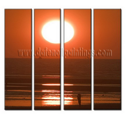 Modern Oil Paintings on canvas seascape painting -set08014
