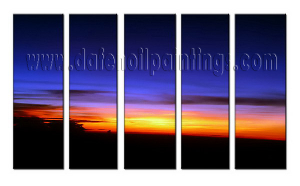 Modern Oil Paintings on canvas sunglow painting -set08016