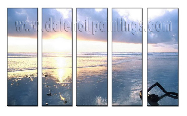 Modern Oil Paintings on canvas seascape painting -set08017