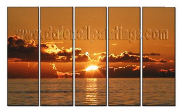 Modern Oil Paintings on canvas sunglow painting -set08019