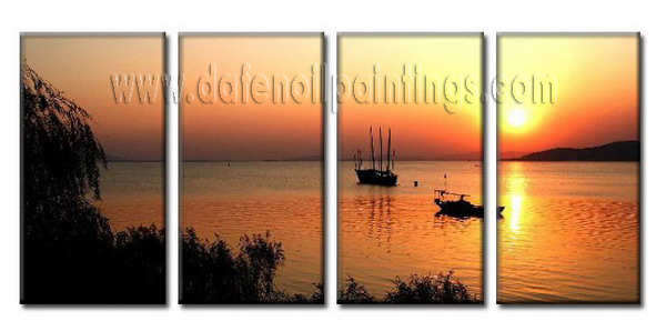 Modern Oil Paintings on canvas seascape painting -set08043