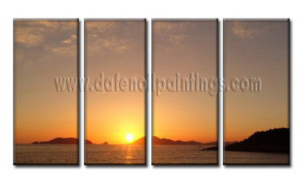 Modern Oil Paintings on canvas seascape painting -set08046