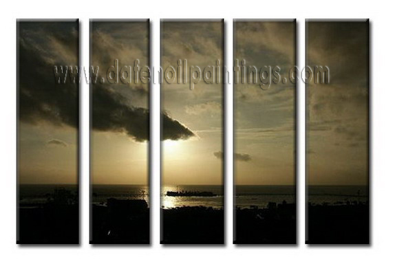 Modern Oil Paintings on canvas setting sun painting -set08047