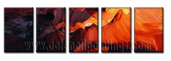 Modern Oil Paintings on canvas mountain painting -set08048