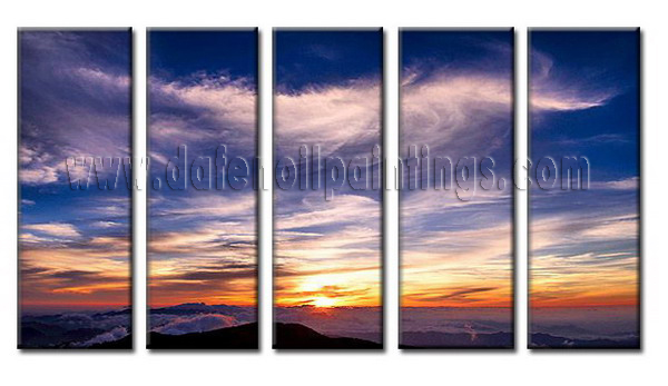 Modern Oil Paintings on canvas sunglow painting -set08060