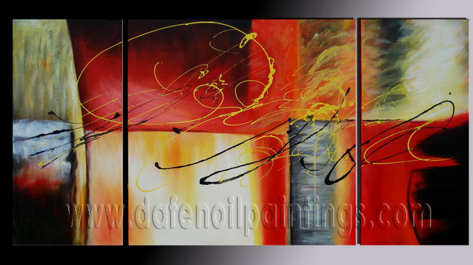 Modern Oil Paintings on canvas abstract painting -set08070