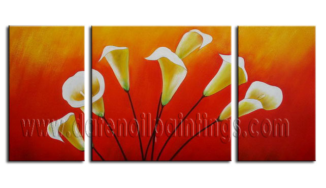 Modern Oil Paintings on canvas flower painting -set08072