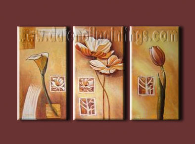 Modern Oil Paintings on canvas flower painting -set08074