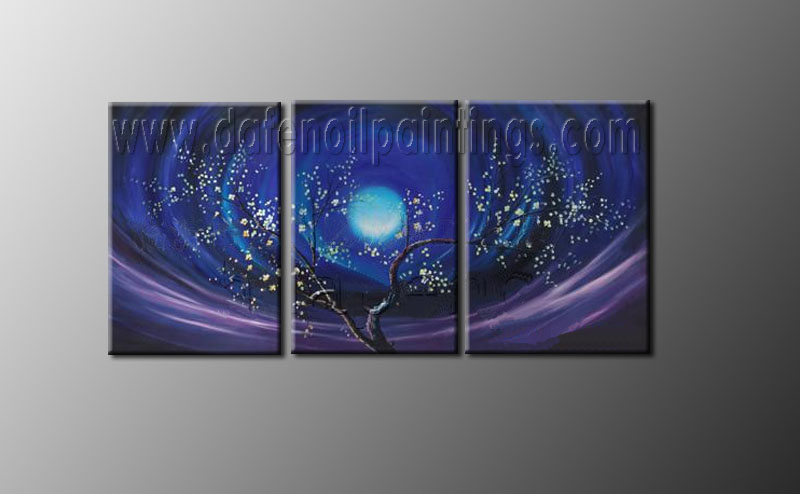 Modern Oil Paintings on canvas flower painting -set08081