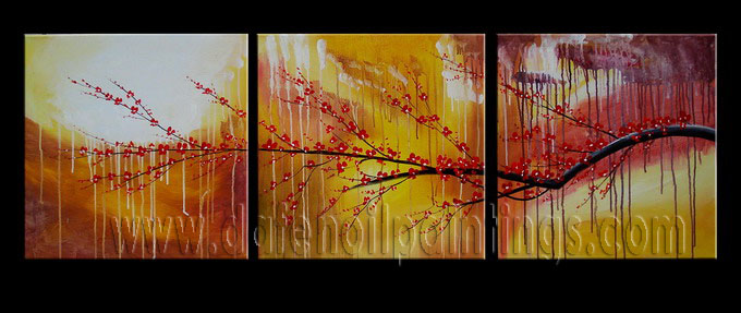 Modern Oil Paintings on canvas flower painting -set08082