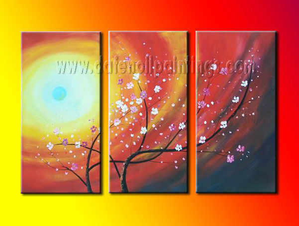 Modern Oil Paintings on canvas flower painting -set08085