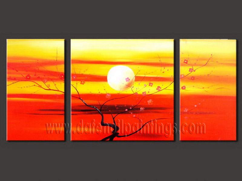 Modern Oil Paintings on canvas flower painting -set08086