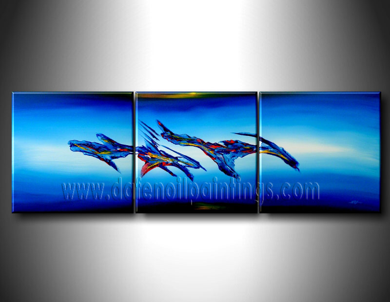 Modern Oil Paintings on canvas abstract painting -set08099