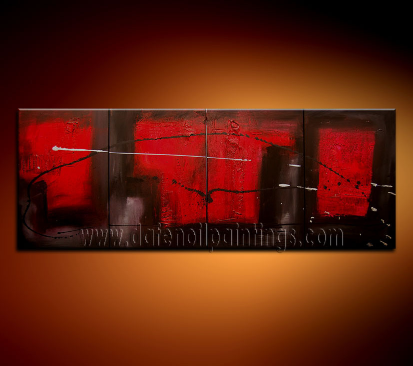 Modern Oil Paintings on canvas abstract painting -set08107