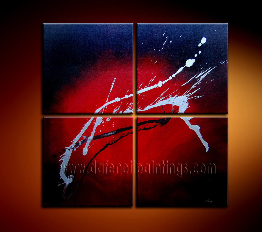 Modern Oil Paintings on canvas abstract painting -set08109