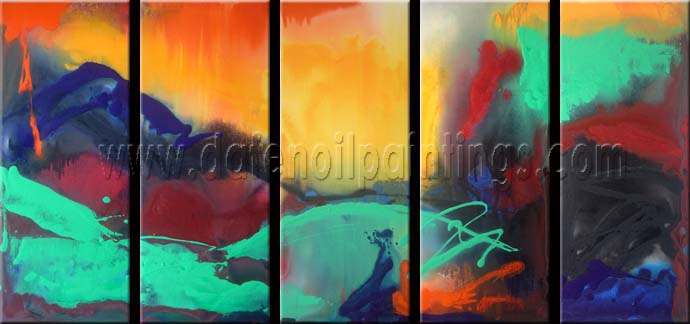 Modern Oil Paintings on canvas abstract painting -set08116