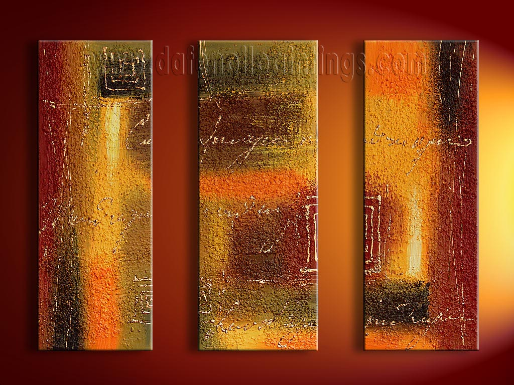 Modern Oil Paintings on canvas abstract painting -set08124 ...