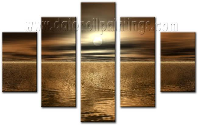 Modern Oil Paintings on canvas seascape painting -set08144