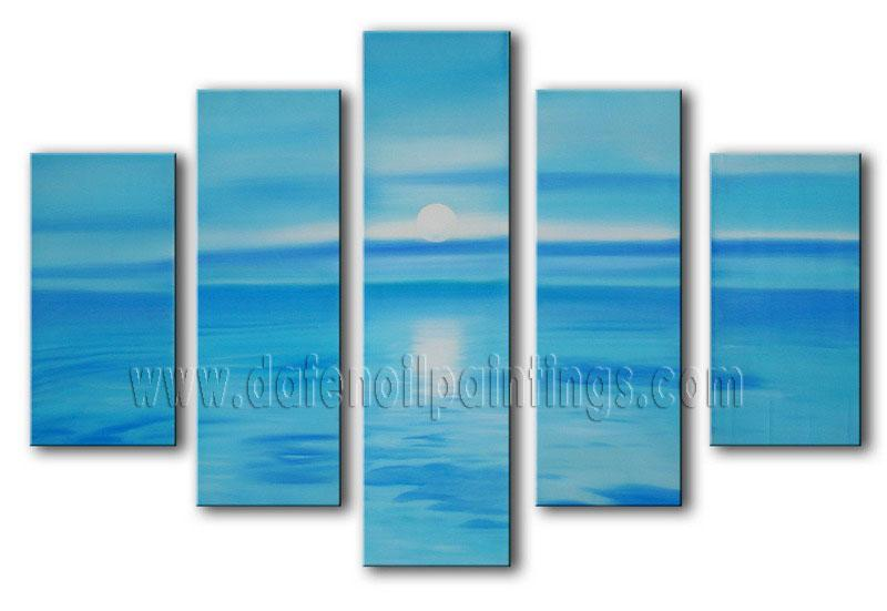 Modern Oil Paintings on canvas seascape painting -set08149