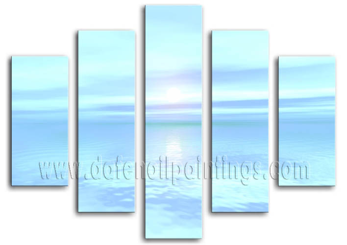 Modern Oil Paintings on canvas seascape painting -set08160