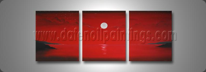 Modern Oil Paintings on canvas seascape painting -set08164