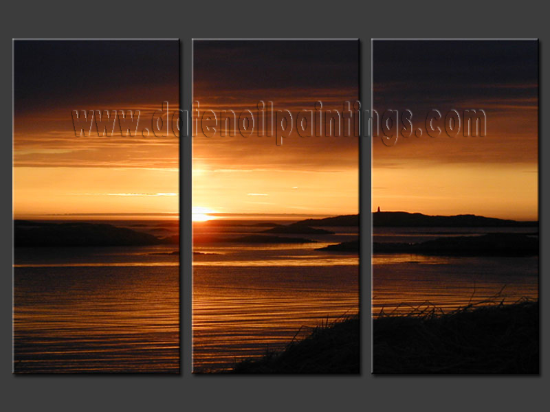 Modern Oil Paintings on canvas seascape painting -set08165