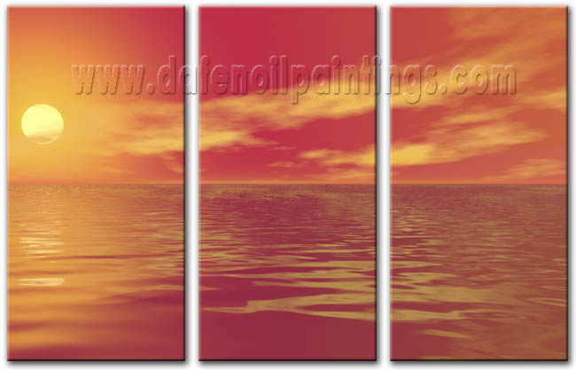Modern Oil Paintings on canvas seascape painting -set08166