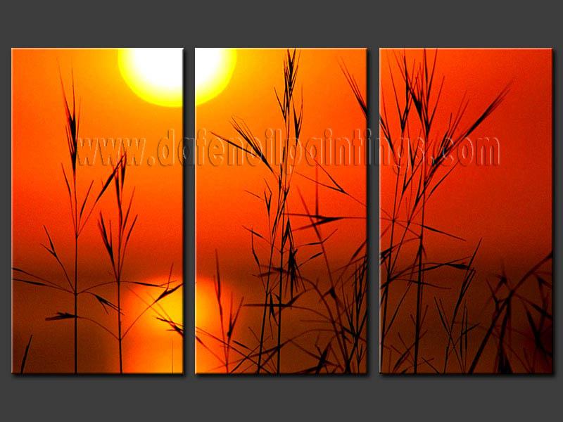 Modern sunset glow oil painting