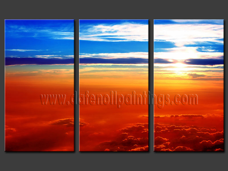 Modern sunset glow oil painting