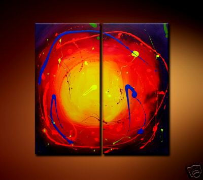 Modern Oil Paintings on canvas abstract painting -set08212