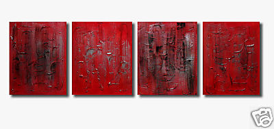 Modern Oil Paintings on canvas abstract painting -set08221