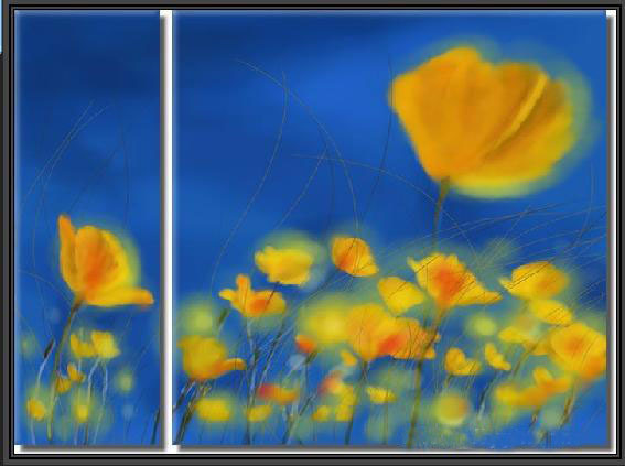 Modern Oil Paintings on canvas flower painting -set09007