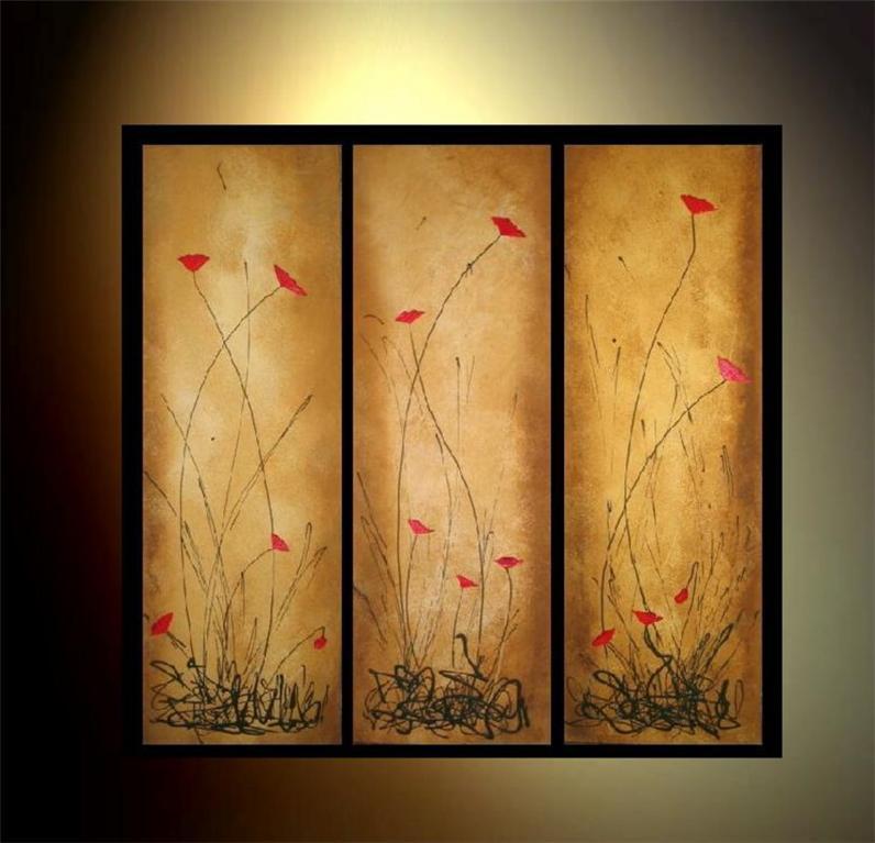 Modern abstract flower paintings car interior design for Modern flower paintings