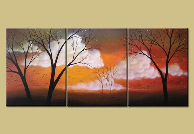 Modern tree oil painting