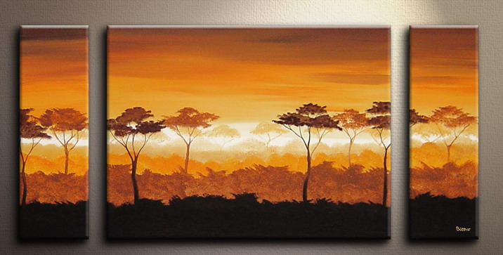 Modern Oil Paintings on canvas tree painting -set09062