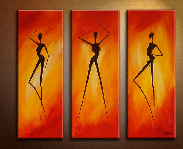 Panels modern oil paintings on canvas abstract painting set09063