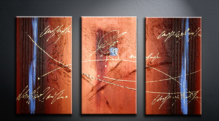 Modern Oil Paintings on canvas abstract painting -set09076