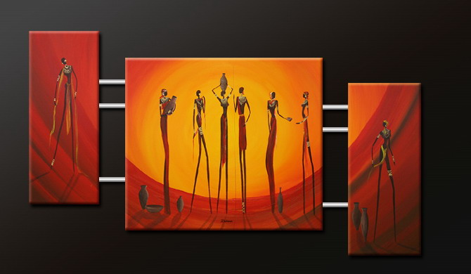 Modern Oil Paintings on canvas abstract painting -set09102