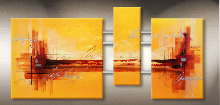 Modern Oil Paintings on canvas abstract painting -set09106 ...