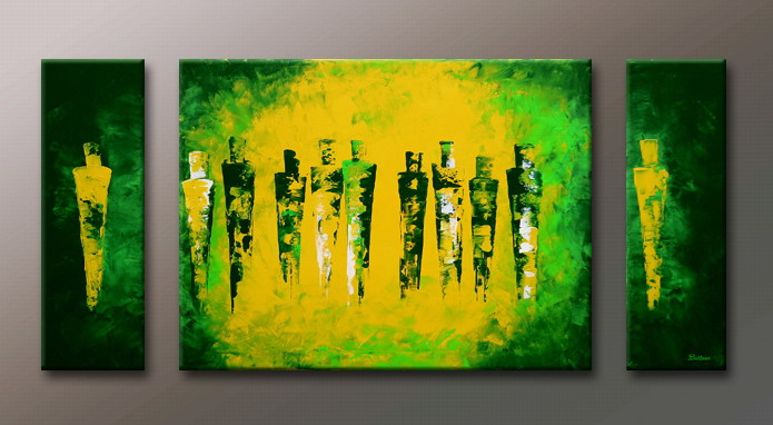 Modern Oil Paintings on canvas abstract painting -set09124