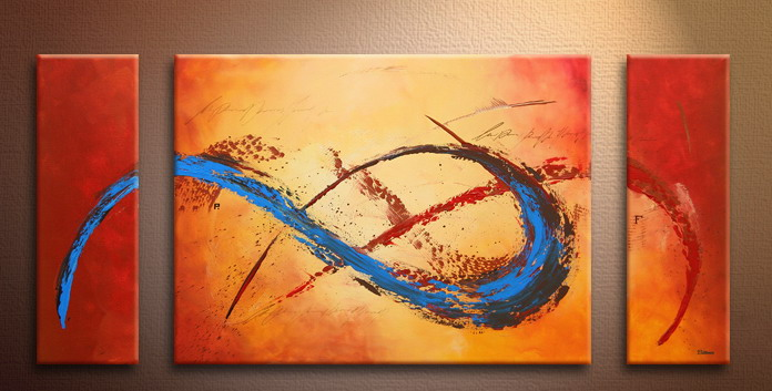 Modern Oil Paintings on canvas abstract painting -set09133