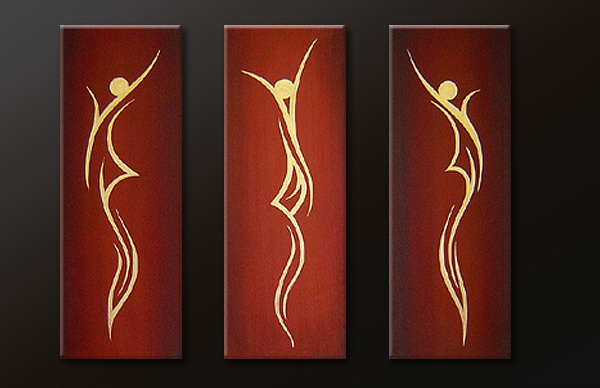 Modern Oil Paintings on canvas abstract painting -set09177
