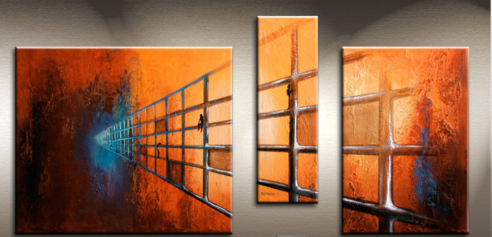 Modern Oil Paintings on canvas abstract painting -set09187