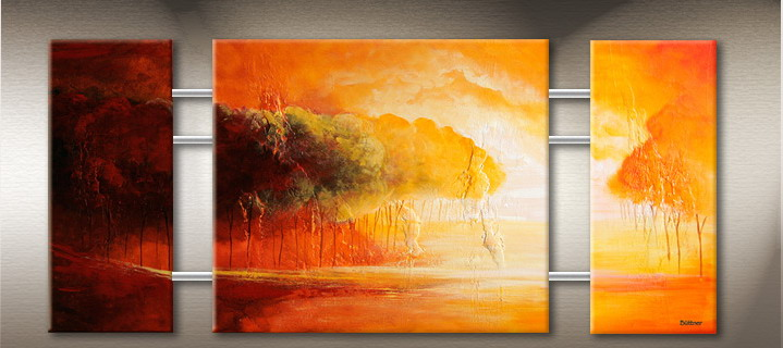 Modern tree oil painting
