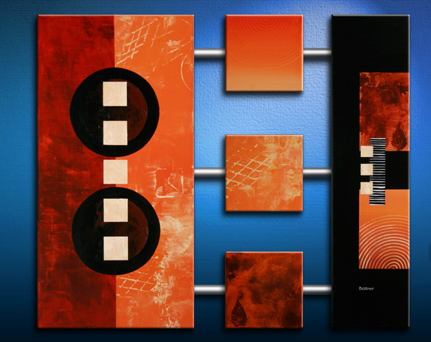 Modern Oil Paintings on canvas abstract painting -set09194