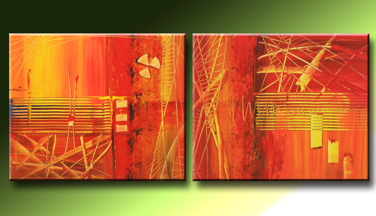 Modern Oil Paintings on canvas abstract painting -set09210