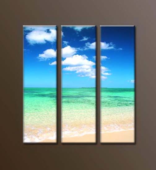 Modern Oil Paintings on canvas seascape painting -set10023